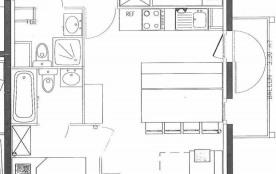 Appartement 3 pièces cabine 6 personnes (03)