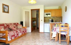 Appartement 1 pièce de 25 m² environ pour 4 personnes, situé au pied des pistes, à côté du télési...