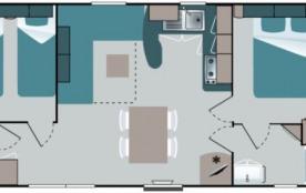 Camping Atlantique 4* - Mobil-home Confort TV - 2 chambres - 4 adultes + 2 enfants