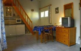 """Appartement type studio mezzanine 3/4 personnes """" Les 4 Saisons""""."""