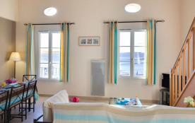 3 pièces (T3) avec mezzanine - Vue Mer - 7 personnes - 68 m². Résidence de vacances La Gabinière.