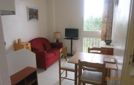 Appartement 2 pièces de 22 m² environ pour 3 personnes, idéalement située en front de mer, la rés...
