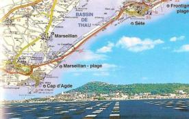 A 12 mn : 12 km de plage de sable fin de Marseillan-Plage à Sète