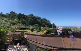 appartement T2 vue Océan, limite Biarritz, plage Ilbarritz et golf à 5 mn à pied