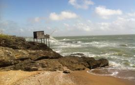 Face mer et plage, sur côte sauvage du Pouliguen