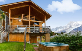 Modern environmentally friendly chalet with a fant