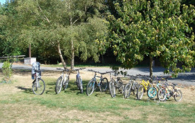 Une partie des vélos à diposition.
