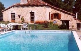 Location maison piscine Lot