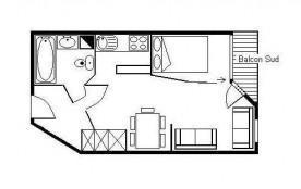Studio cabine 3 personnes (306)