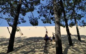 Pyla sur mer, aux portes du bassin d'Arcachon, en bordure des immenses plages océanes.