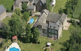 Vue aérienne, 2 piscines & parc 3 hectares