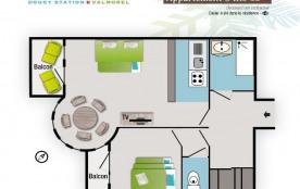 Appartement 3 pièces 6 personnes (52)