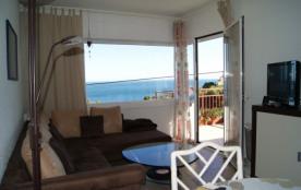 Appartement d'une capacité pour 4 personnes, bien équipé et bien meublé avec terrasse et jolie vue sur la mer.