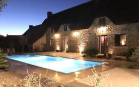 Location vacances dans authentique chaumière de charme avec piscine chauffée près de La Baule