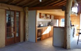 modification 2017 : porte vitrée séparant les chambres et la salle d'eau