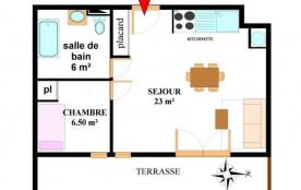 Appartement 3 pièces 6 personnes (517)