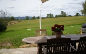 terrasse vue sur la campagne