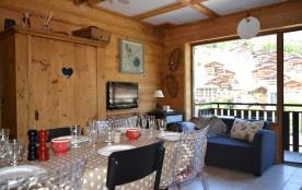 Appartement 3 pièces de 47 m² environ pour 6 personnes, la résidence Orée des Pistes A est située...