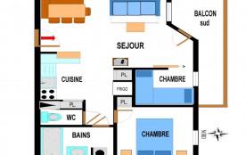 Appartement 3 pièces 6 personnes (A78)