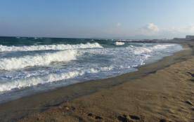 La plage Nord de Saint Cyprien Plage (à 10mn à pied de la maison)