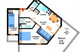 Appartement 3 pièces 5 personnes (B11)
