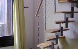 escalier acces couchage bains mezzanine