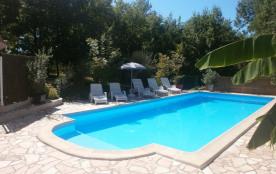 La piscine vue par le gîte''Vézère''