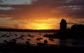 coucher de soleil tour Solidor