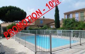 Appartement 2 pièces, au premier étage, 32 m², avec terrasse, dans une résidence de style provenç...