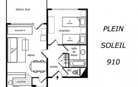 Appartement 2 pièces mezzanine 6 personnes (1203)