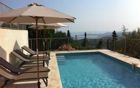 Vakantiewoning met prachtig zeezicht,airco, verwarmd zwembad