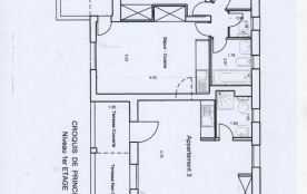 """villa """"Bois des pins"""" plan du niveau 1 modulable"""