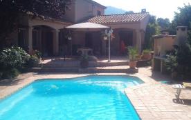 Vaste studio indépendant dans villa privée avec jardin ,Piscine,Jacuzzi