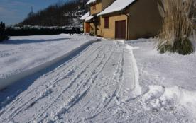 La maison sous la neige.
