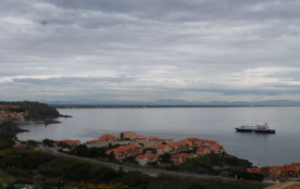 Appartement F3 face à la mer, vue panoramique sur le golfe du lion.