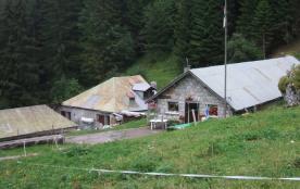 alpage Au de Morge avec vente de fromage en saison estivale.