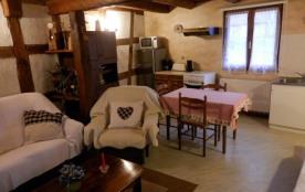 séjour-salon avec coin cuisine