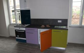 Cuisine - frigo, plaque 4 feux, placards