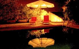 Night time around the pool