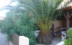 BELLE MAISON accolee avec palmier et parking securise a 700m de la mer au calme