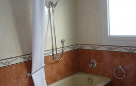 Salle de bains avec baignoire / douche