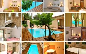 Gîtes de France maison avec piscine chauffée.