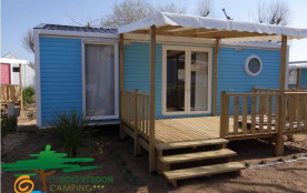 Mobil-Home O'Hara 28m² RECENT (2016) , 4/6 pers., piscine couverte, terrasse bois semi-couverte, camping ***