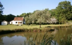 Maison de campagne avec étang au coeur de la nature