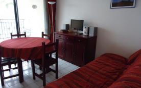Port-Argeles, 200 m de la plage, appartement 2 pièces cabine pour 6 personnes terrasse avec vue s...