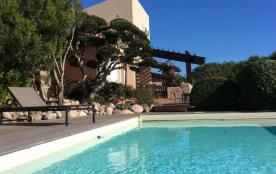 Villa face à la mer et à la Sardaigne. Piscine privée chauffée (plage à 400m.)