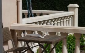balcon du côté chambre piscine