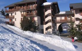 Résidence vue de la piste de ski