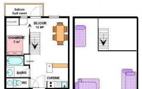 Appartement 2 pièces mezzanine 6 personnes (31)