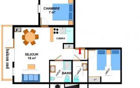 Appartement 3 pièces 6 personnes (017)